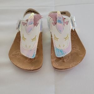 Seychelles Unicorn Iridescent Metallic Sandals, 5c